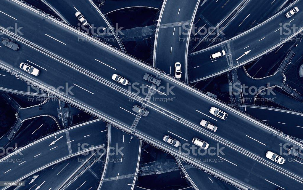 Highway - Lizenzfrei Ansicht von oben Stock-Foto