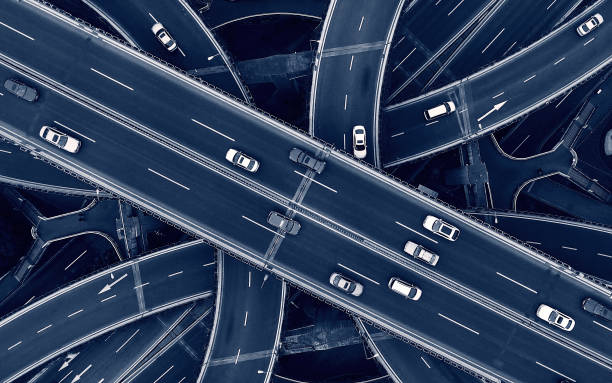 Highway SHanghai Aerial highway junction multiple lane highway stock pictures, royalty-free photos & images
