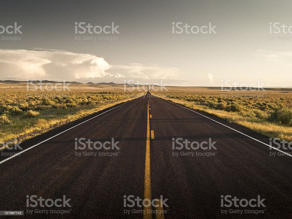 Highway road in New Mexico USA stock photo