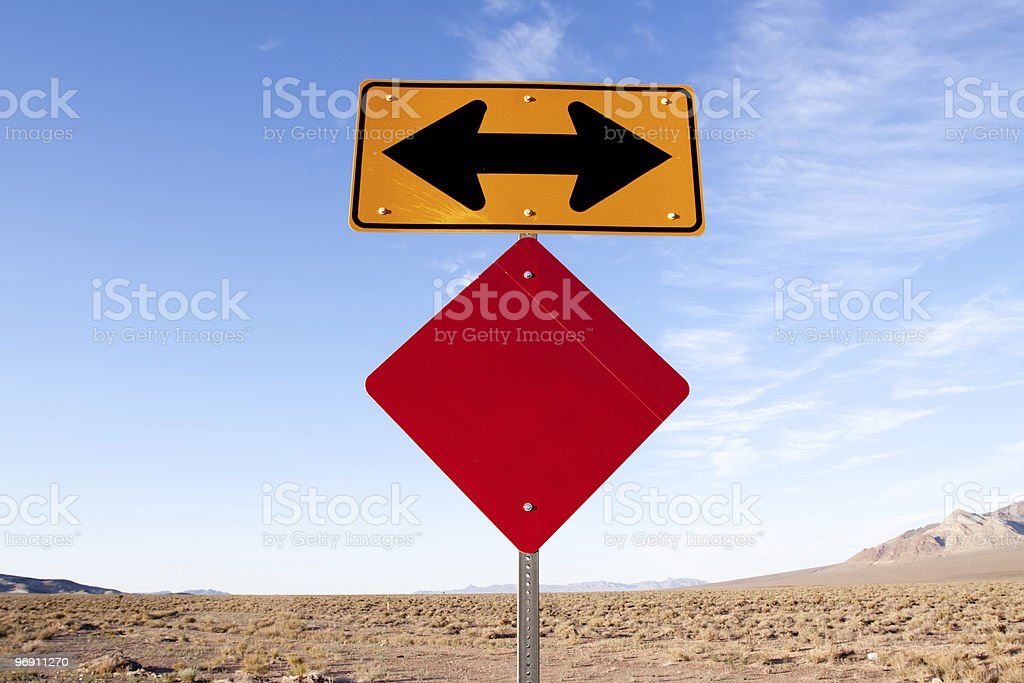 Highway road sign royalty-free stock photo