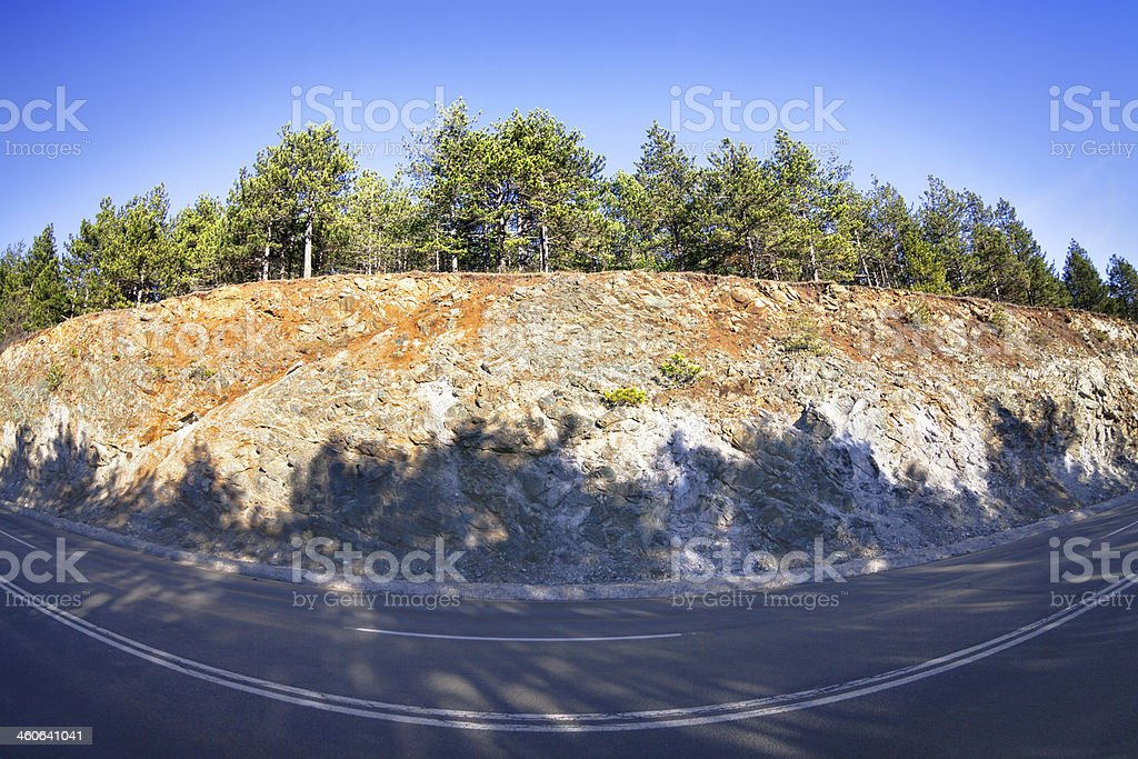highway, rocky ridge royalty-free stock photo
