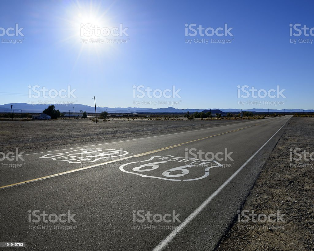 Highway Route 66 stock photo