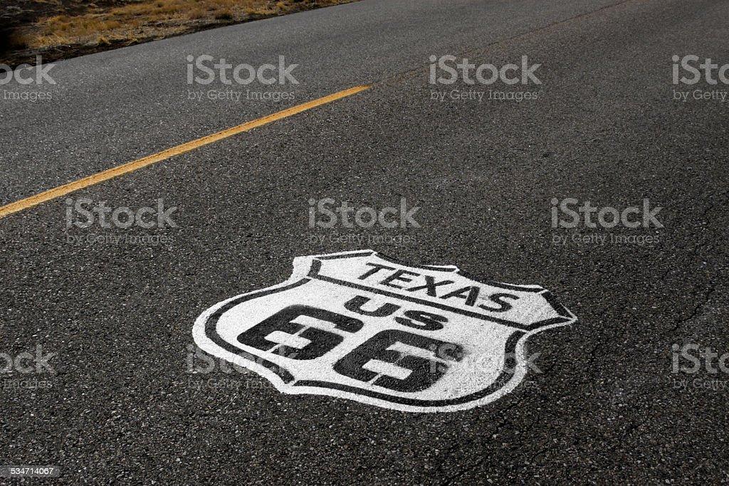 U.S. Highway Route 66 Travel Road Amarillo Texas American Icon stock photo