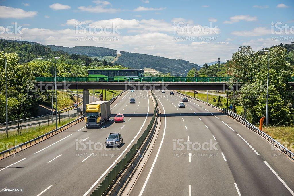 Highway scena - Foto stock royalty-free di 2015