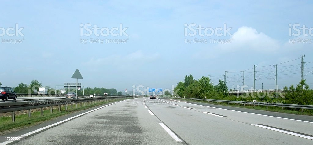 highway scenery at summer time stock photo