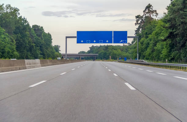 highway scenery in Germany stock photo