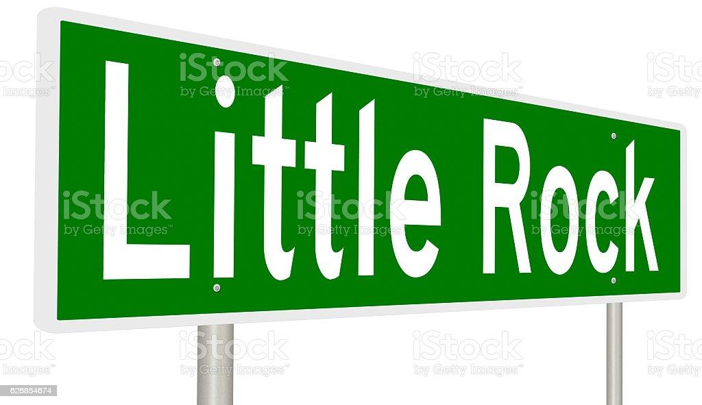 Highway sign for Little Rock, Arkansas stock photo