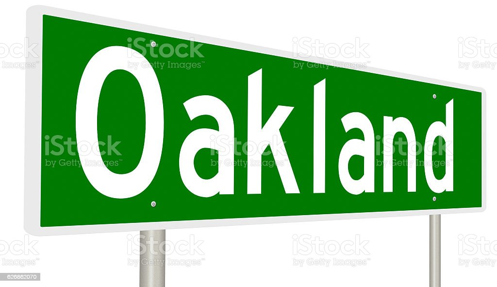 Highway Sign For Oakland California Stock Photo - Download