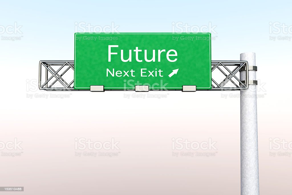 Highway Sign - Future stock photo