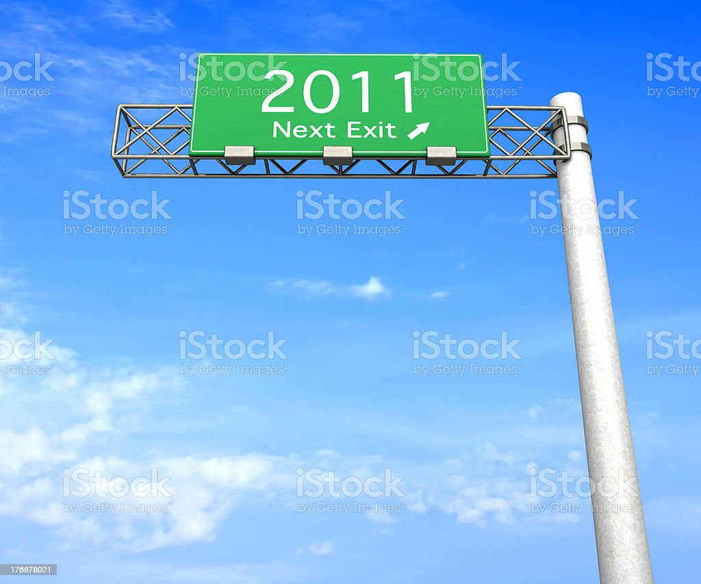 Highway Sign - Next Exit 2011 royalty-free stock photo