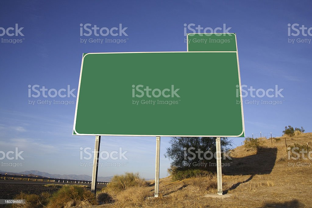 Highway Sign stock photo