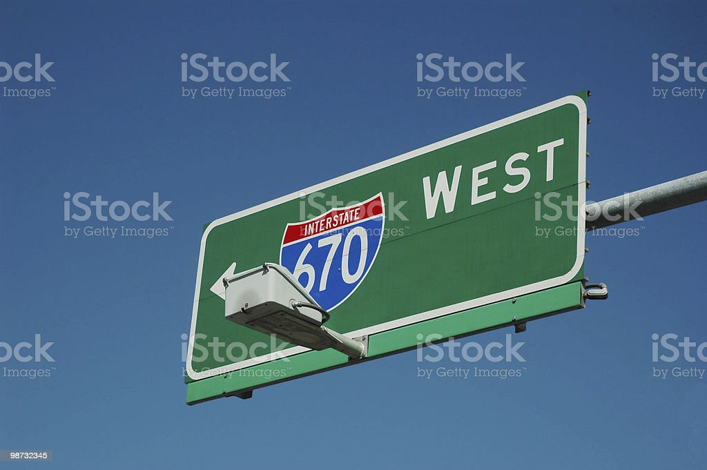 highway sign royalty-free stock photo