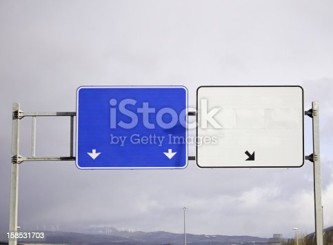 istock Highway signs with space for text 158531703