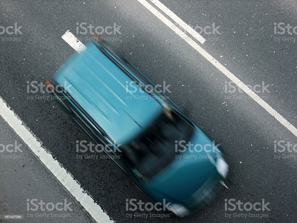 autobahn speed stock photo