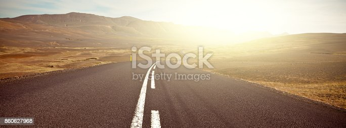 istock Highway sunny landscape 860627968