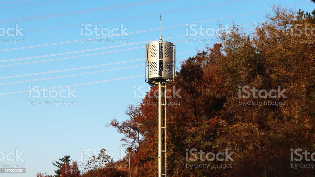 highway surroundings landscape of autumn stock photo