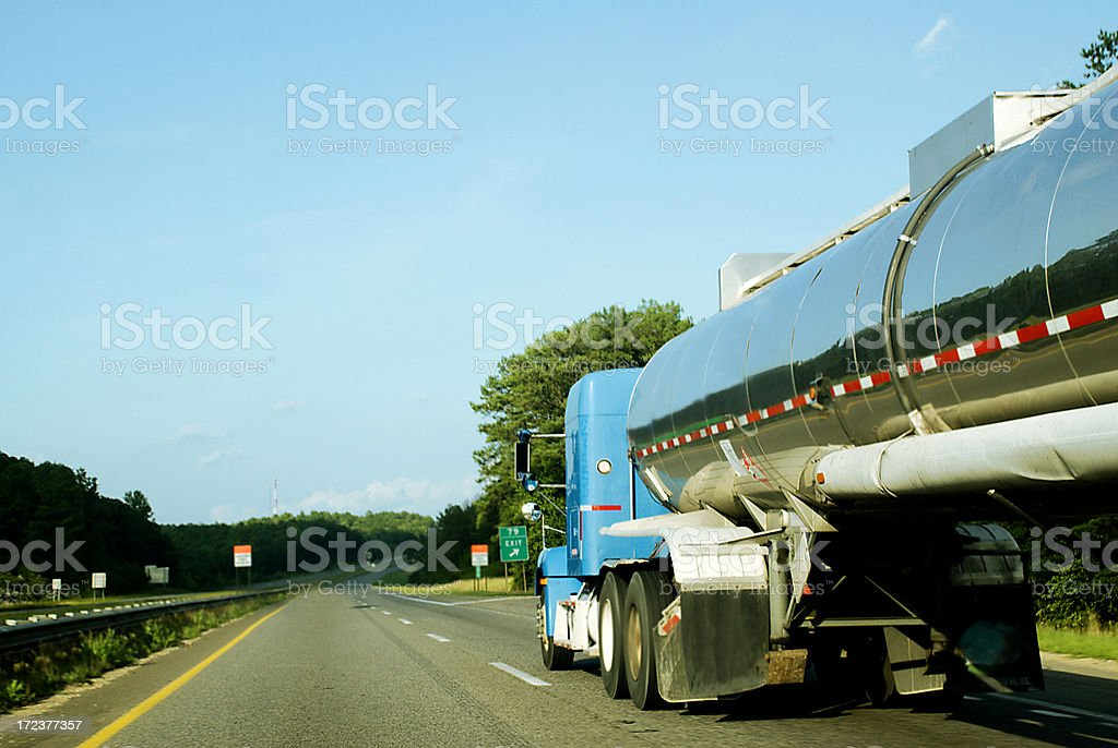 Highway Tanker royalty-free stock photo