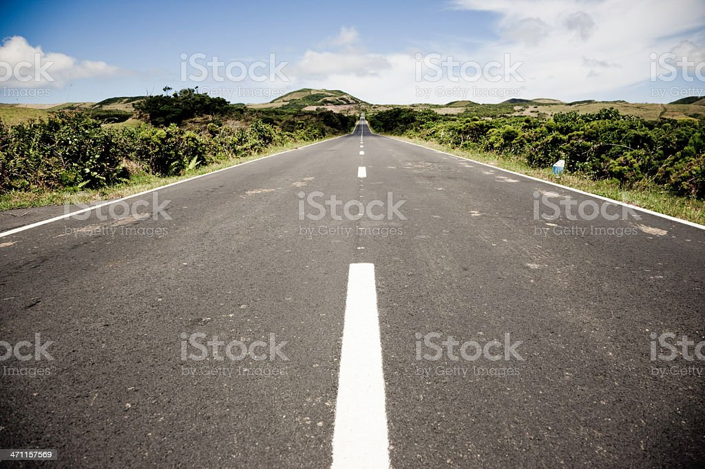 Highway through Nature royalty-free stock photo
