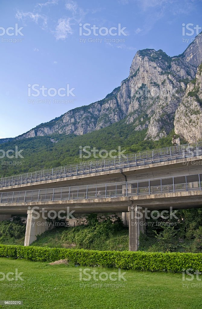 Highway Through the Mountains royalty-free stock photo