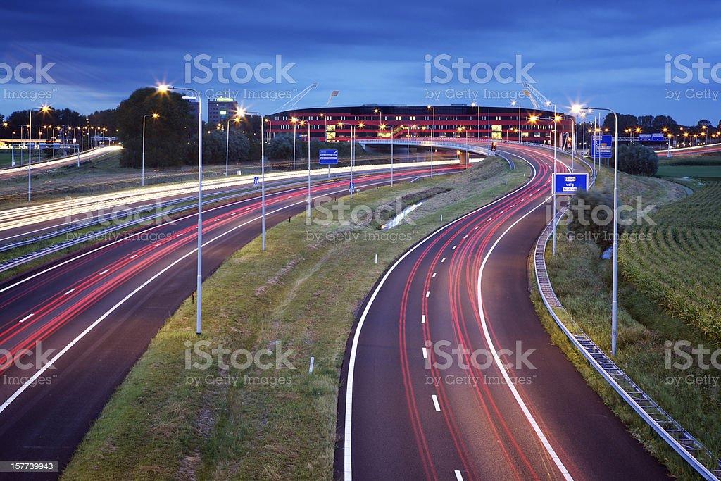 Highway to Alkmaar, the Netherlands stock photo