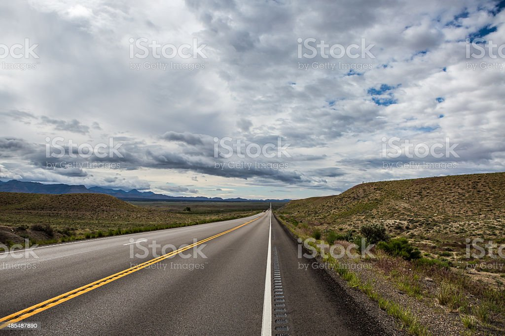 Highway to Arches National Park stock photo