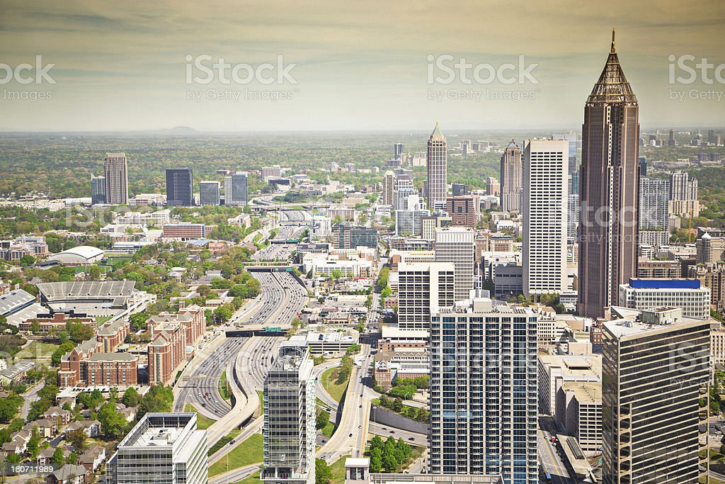 Highway to Atlanta stock photo