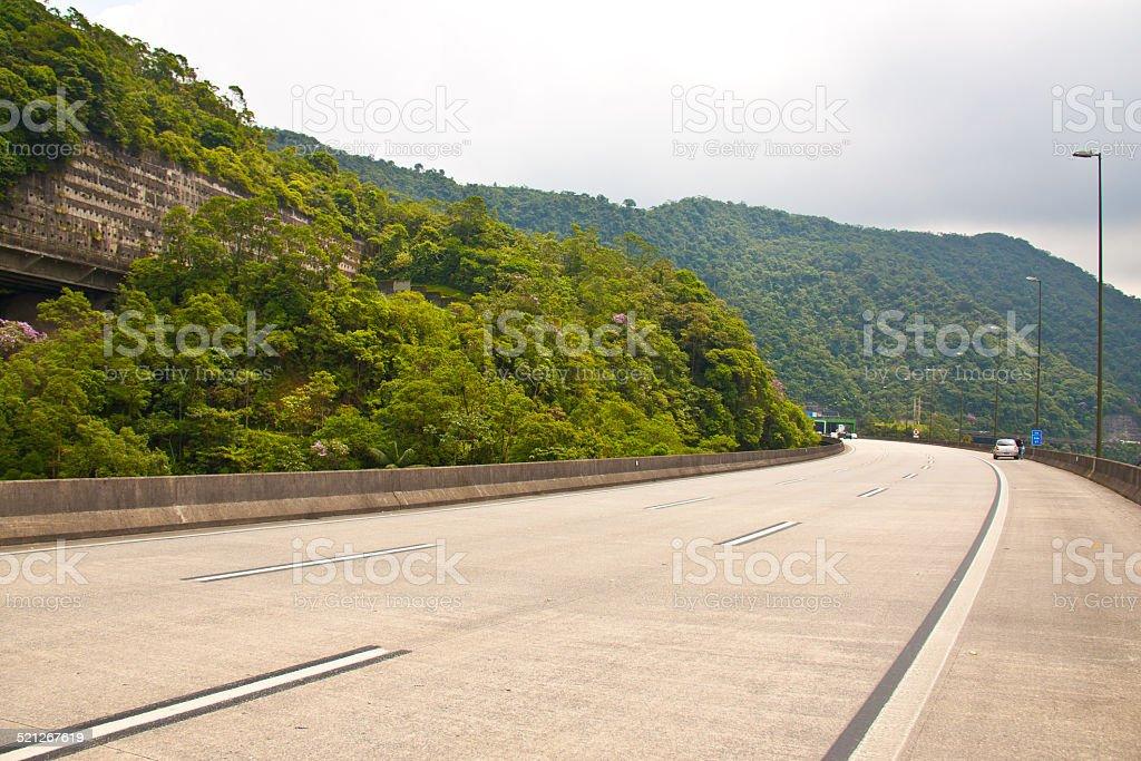 Highway to beach stock photo