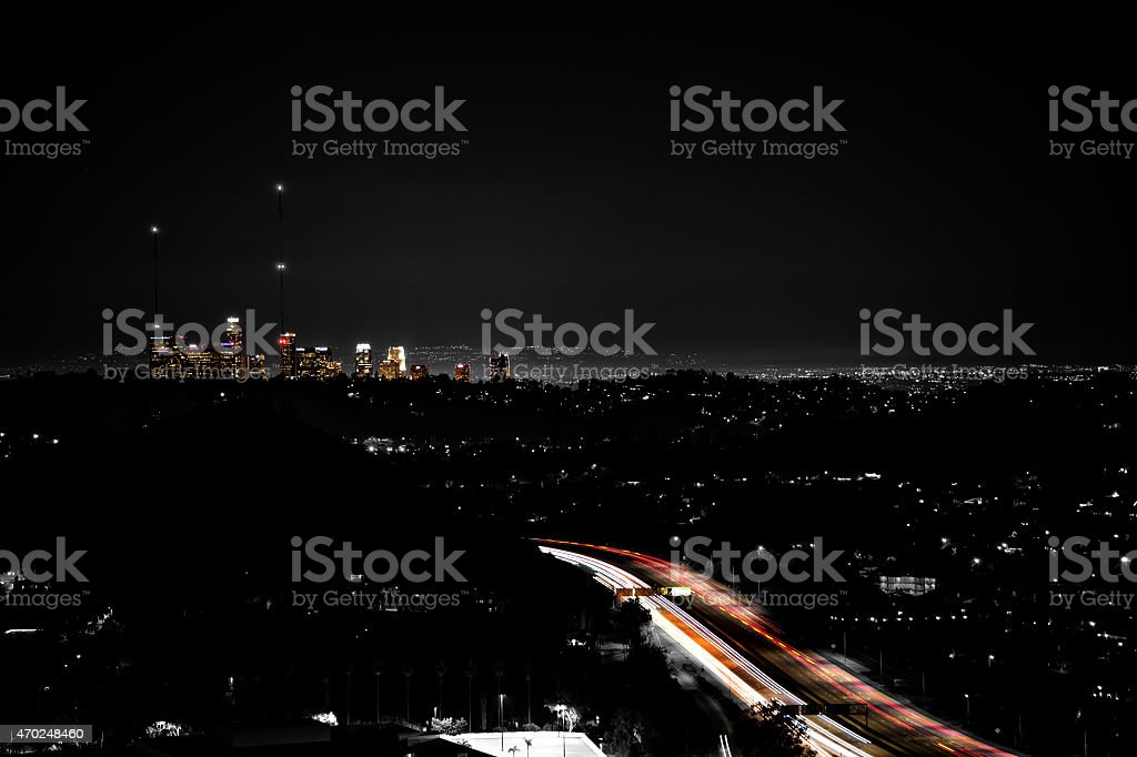 Highway to Downtown stock photo