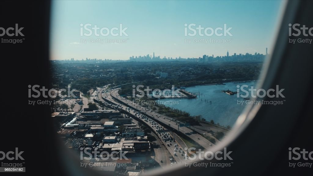 Highway to New York City zbiór zdjęć royalty-free