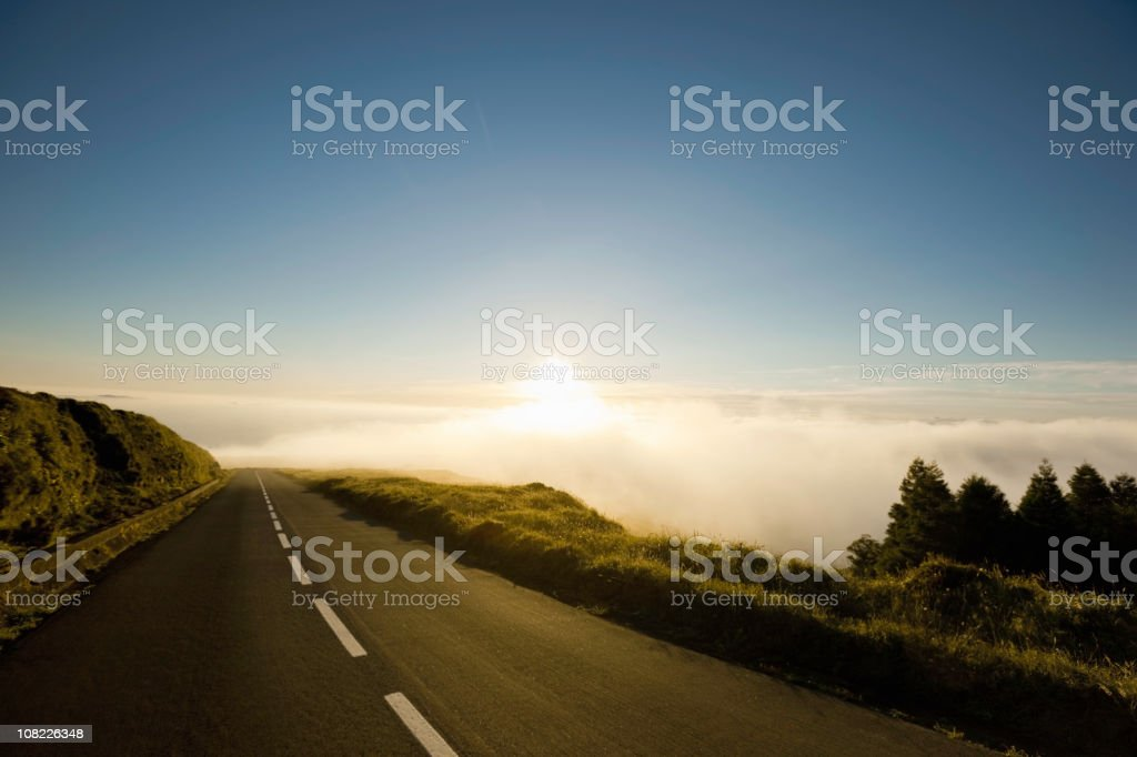 Highway to the Clouds royalty-free stock photo