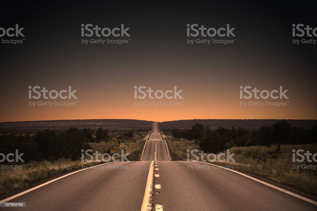 Highway to the Sunset stock photo