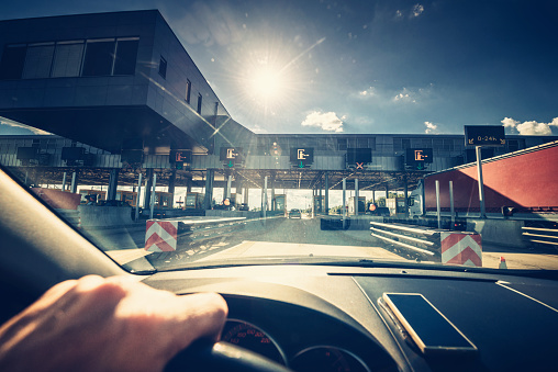 Highway Toll Station Stock Photo - Download Image Now