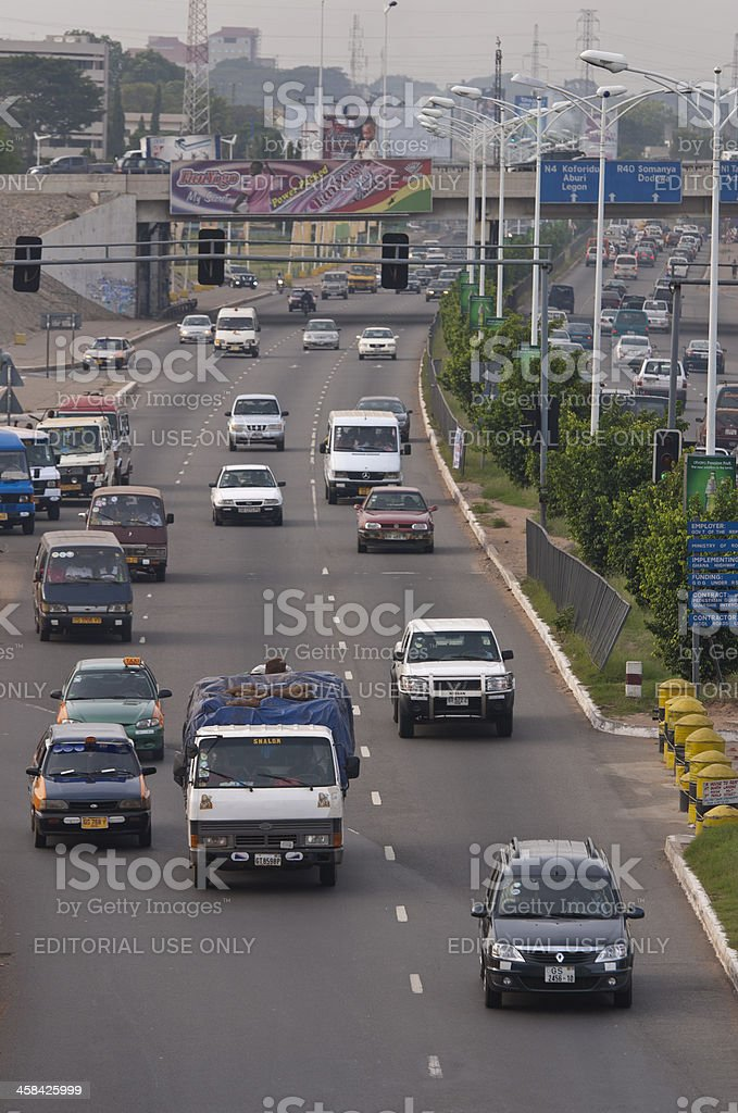 Highway Traffic in Accra royalty-free stock photo