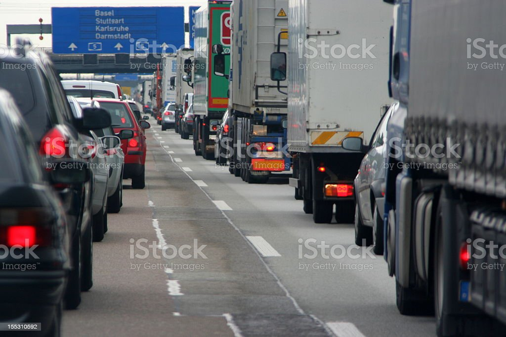 Highway Traffic Jam stock photo