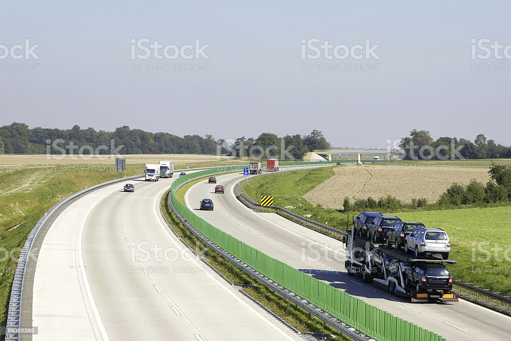 Highway traffic royalty-free stock photo