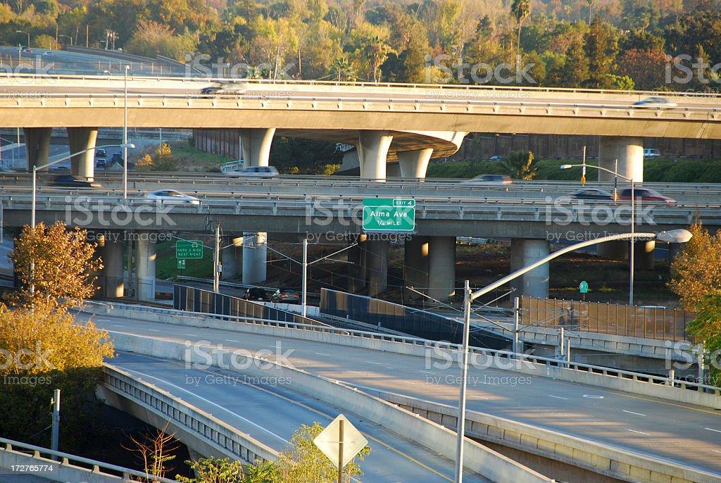 Highway Transportation in San Jose, CA royalty-free stock photo