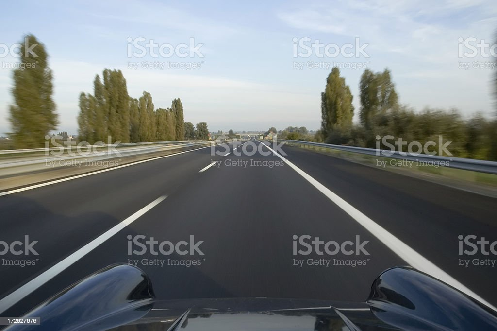 Highway traveling royalty-free stock photo