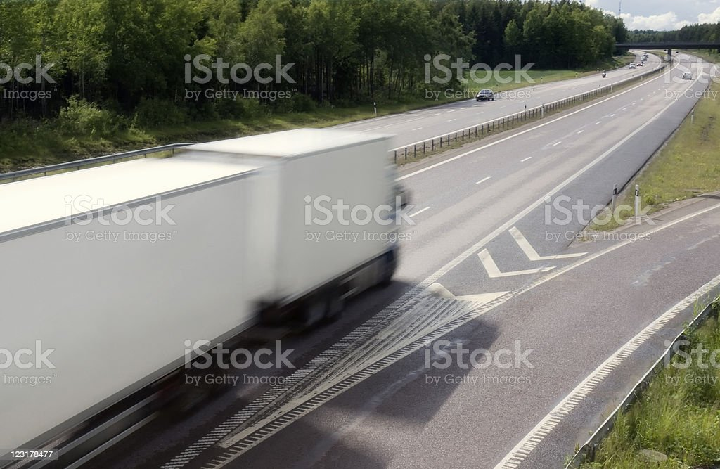Highway truck royalty-free stock photo