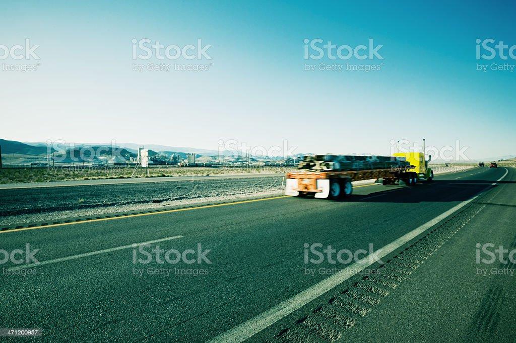 Highway Truck Speeding USA  Series royalty-free stock photo