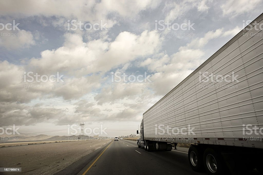 Highway trucking royalty-free stock photo
