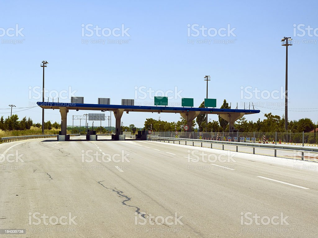 Highway turnstiles royalty-free stock photo