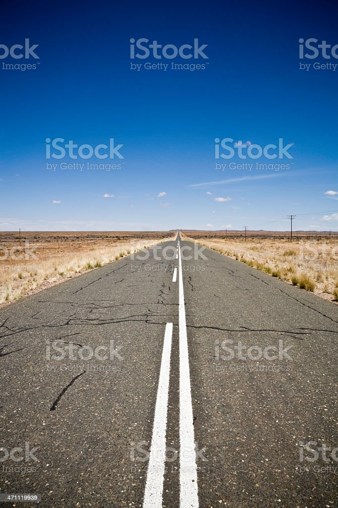 Highway under African Sky royalty-free stock photo