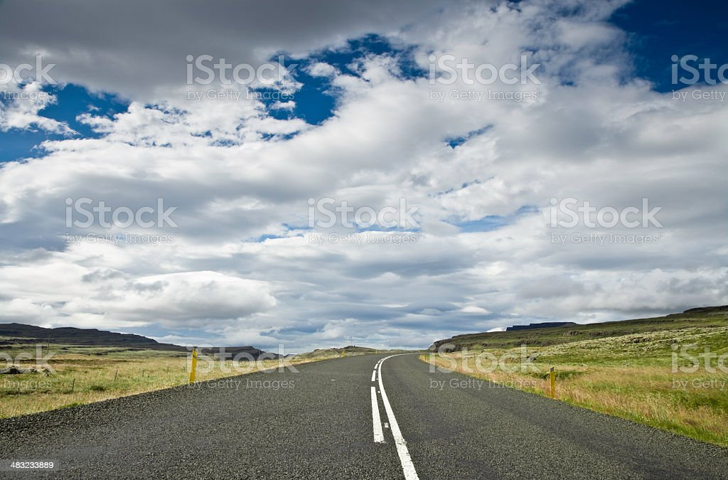 Highway Under Dramatic Cloudscape royalty-free stock photo