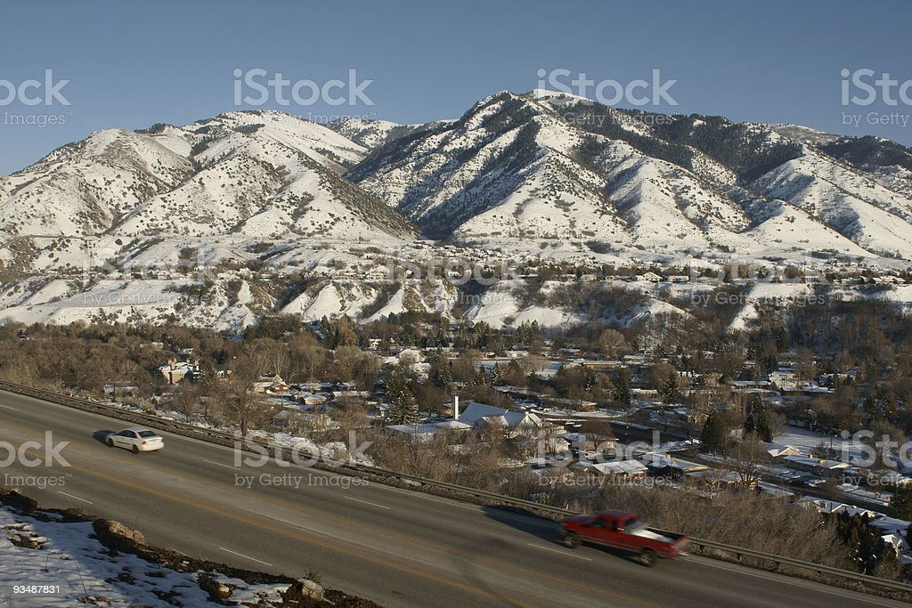 Highway Urban Scene Two royalty-free stock photo