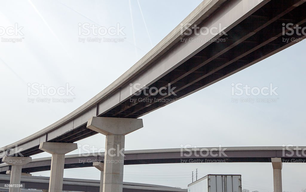Highway Viaduct stock photo