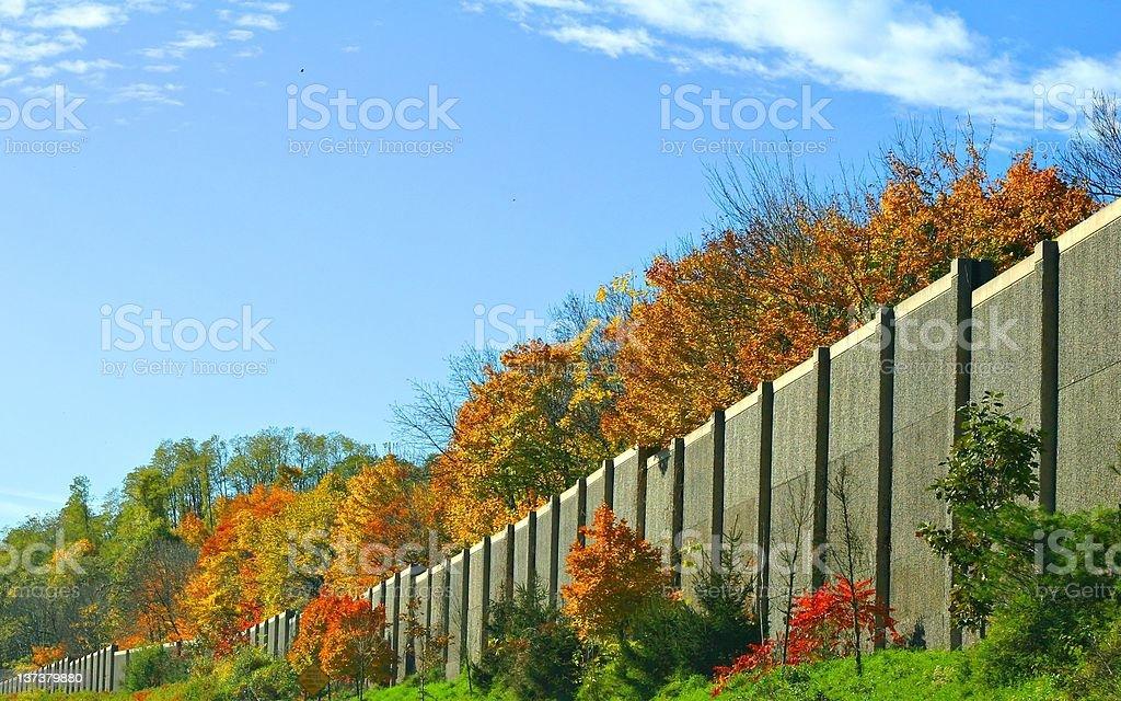 Highway wall stock photo