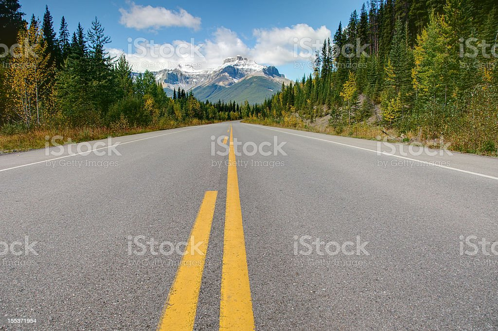 Highway with mountain view royalty-free stock photo