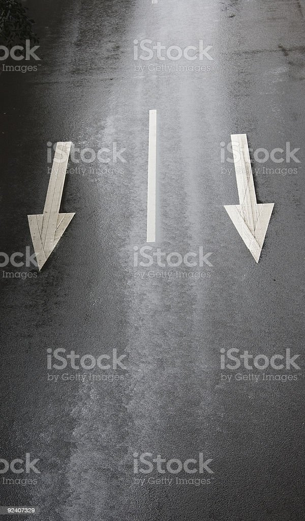 highway with traffic sign royalty-free stock photo