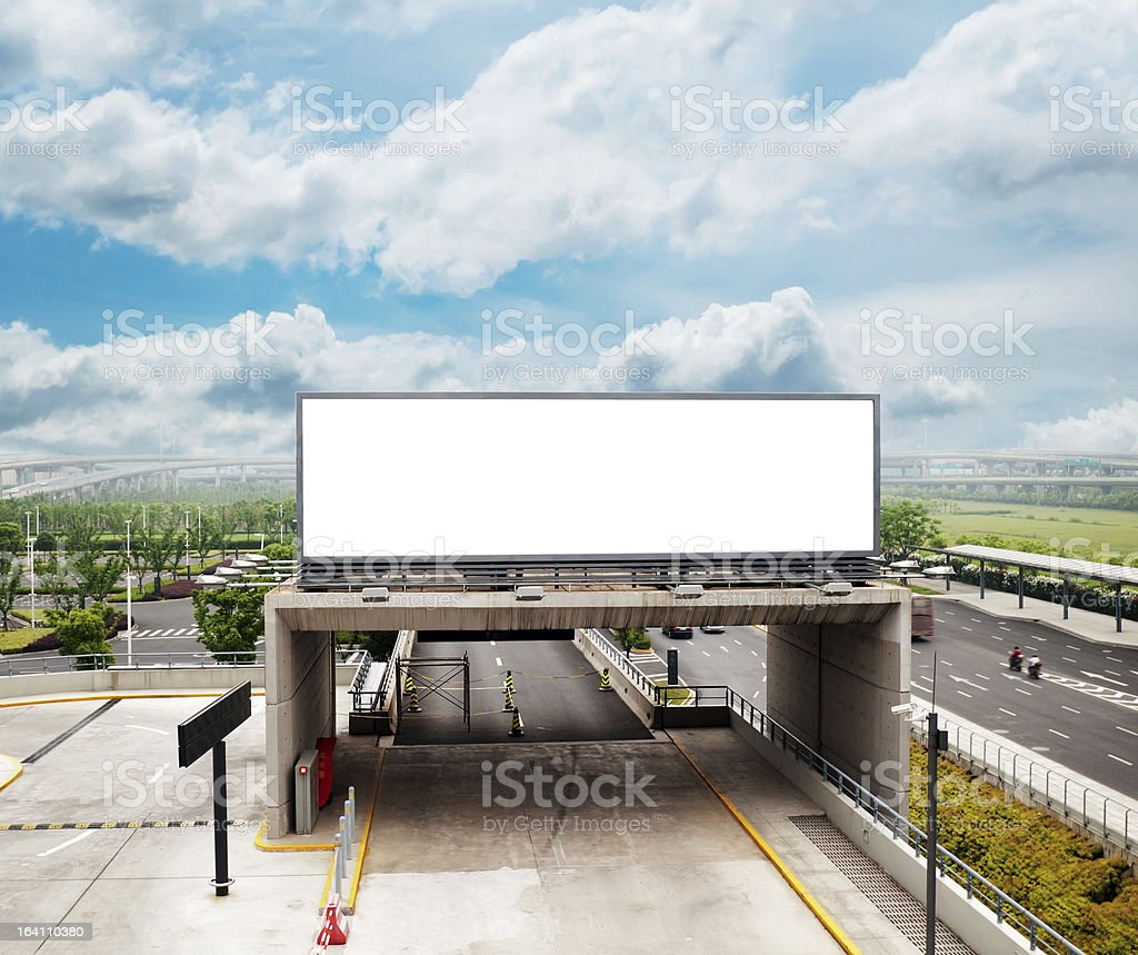 Highways and billboards royalty-free stock photo