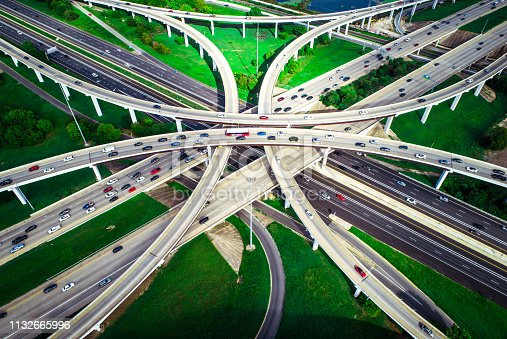 istock Highways overpass transportation huge interchange 1132665996
